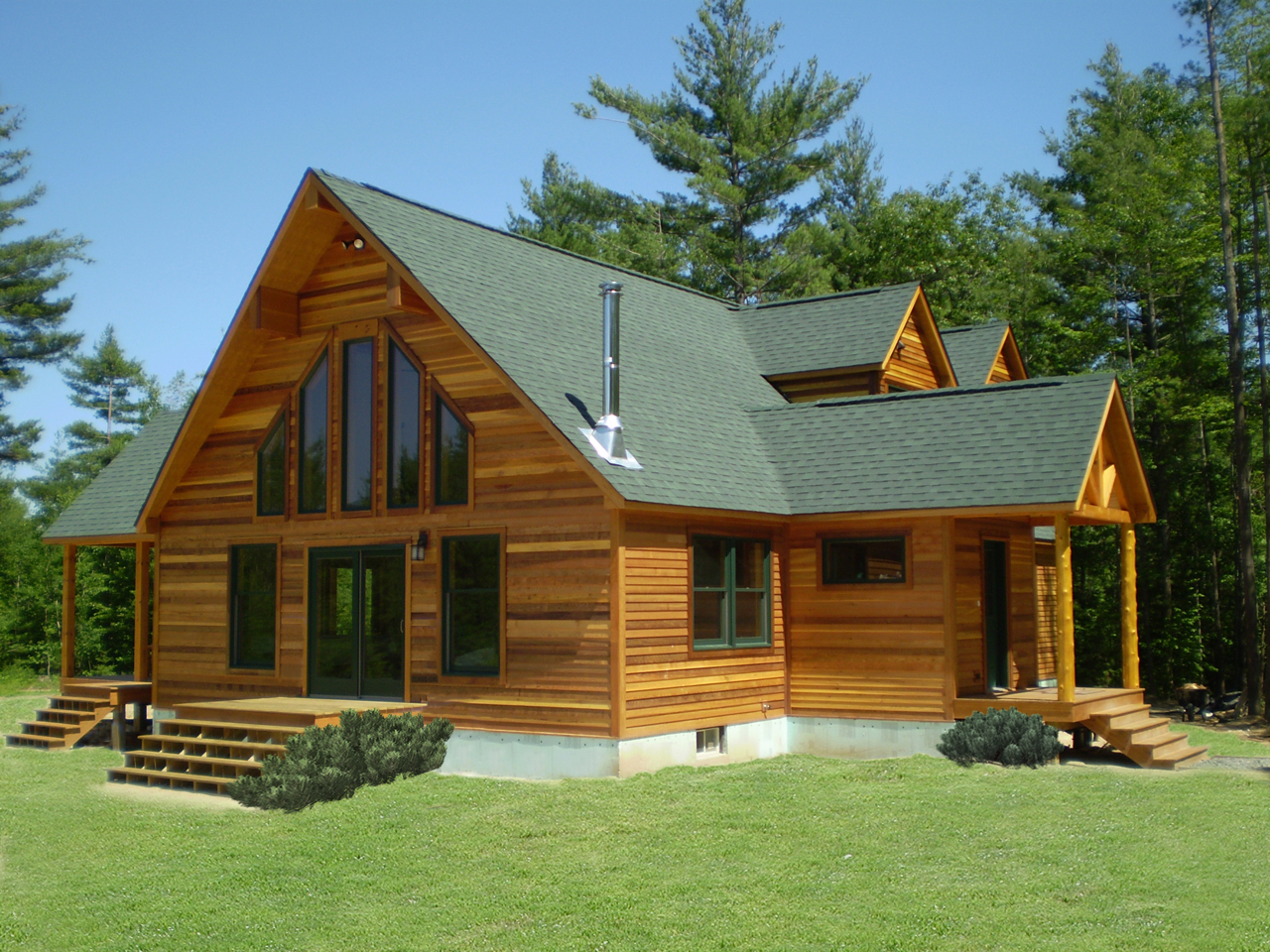 Custom modular homes saratoga construction llc for Unique log homes