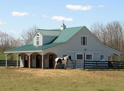 Modular barns saratoga construction llc for Prefab barns with living quarters